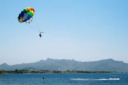 parasailing: Para sailing on the sunny day
