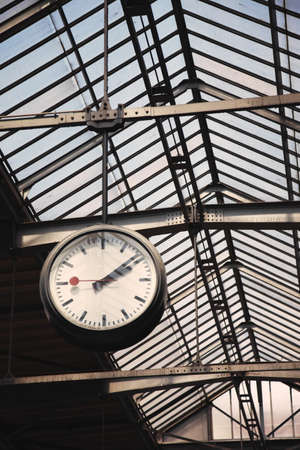 station wagon: Old clock at a train station, Switzerland