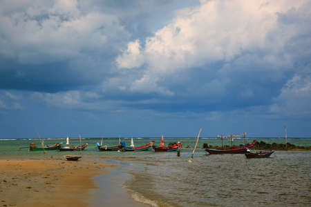 A boats in the sea of the Thailand. photo