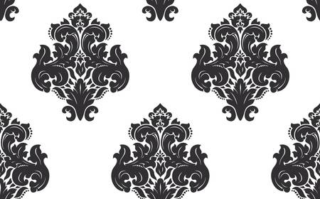 fabric swatch: Seamless damask pattern