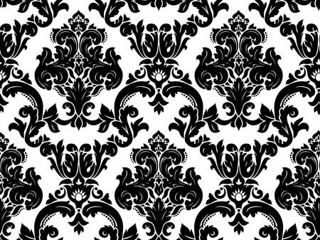 seamless damask: Patr�n de damasco sin fisuras