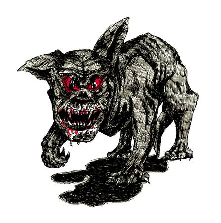 the black hell dog Vector