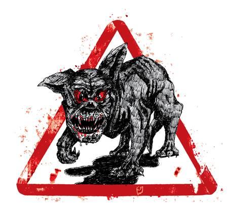 perro furioso: el perro negro infierno