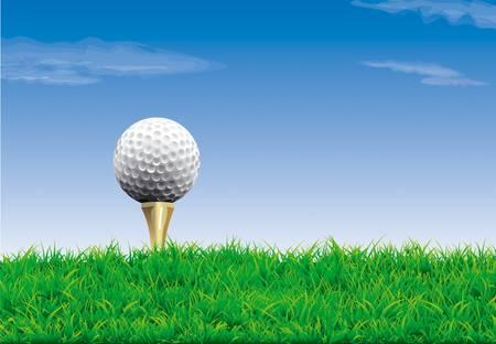 T シャツ、シンプルなゴルフの背景にゴルフ ・ ボール