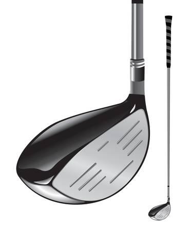 golfclub: Golf club op een witte achtergrond