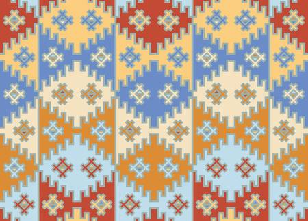latin american ethnicity: Vector  Seamless mosaic background  Indian style