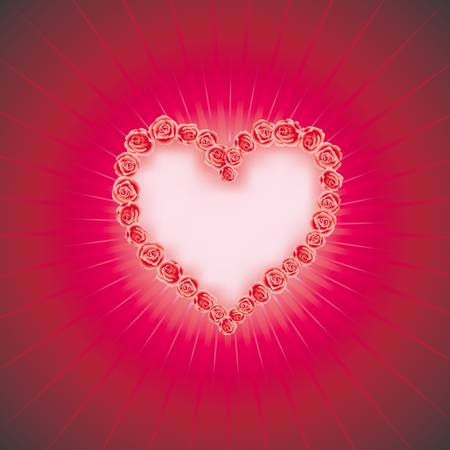 HEART OF LOVE   Diamond heart   vector background  with space for your text Vector