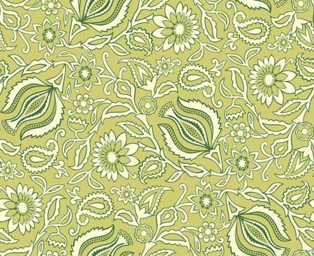 calendula flower: Vector  Seamless floral background Illustration