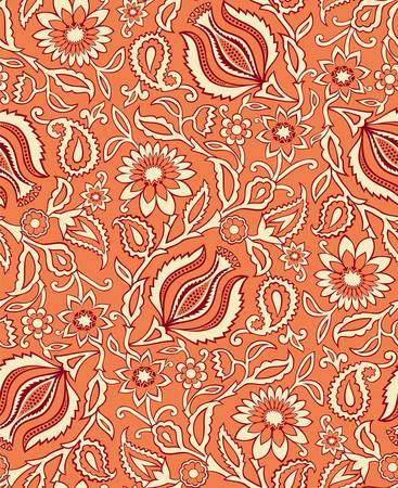 calendula: Vector  Seamless floral background Illustration