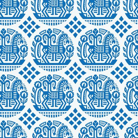 russian culture: Ukrainian ethnic pattern - seamless vector texture