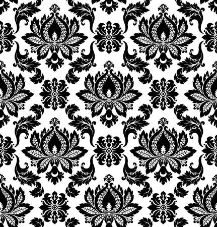 baroque: Vector patrón de damasco sin fisuras Vectores