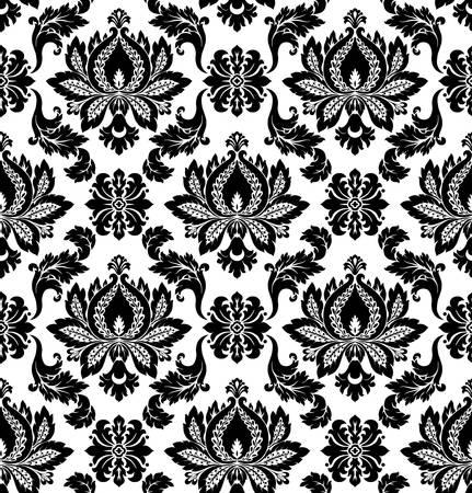 barocco: Vector pattern damascato senza soluzione di continuit�