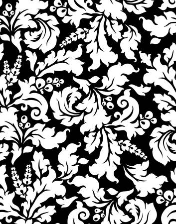 Vector  Seamless damask pattern Vector