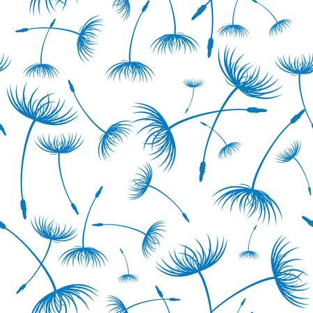 fluff: Vector  Elegant seamless dandelion pattern
