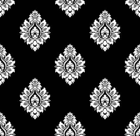 victorian textile: Vector  Seamless ancient damask pattern
