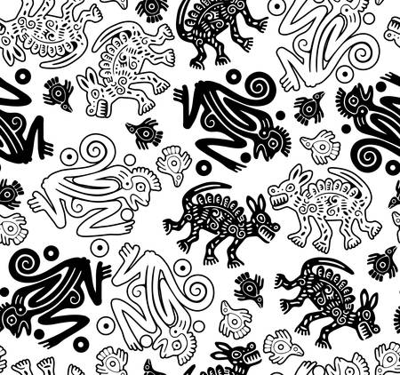 African indigenous seamless wild animal texture Vector