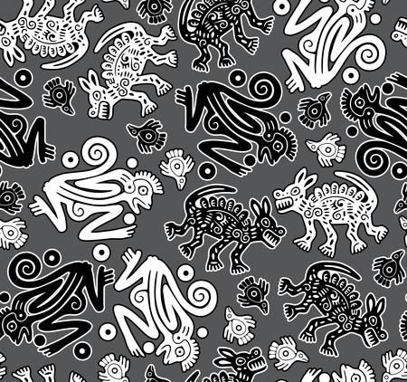 plaited: African indigenous seamless wild animal texture