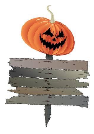 Pumpkin head with welcome message Stock Vector - 16829878
