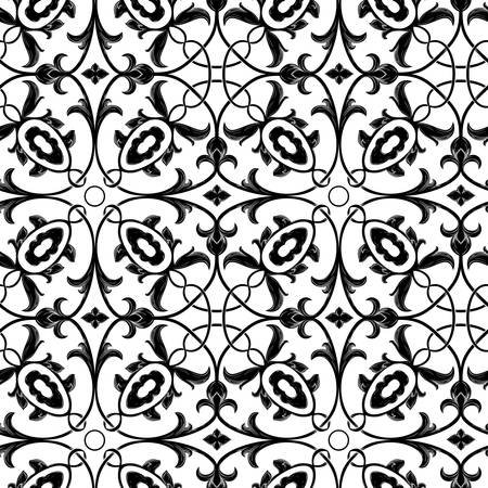 Damask vintage floral background pattern, vector illustration  Vector