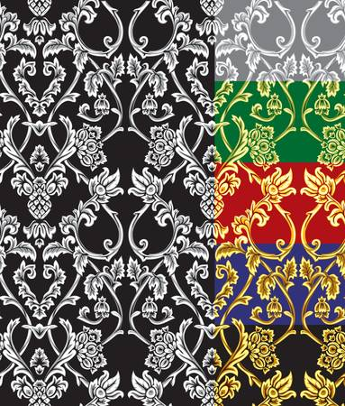 Vector  Seamless damask pattern Stock Vector - 16829888