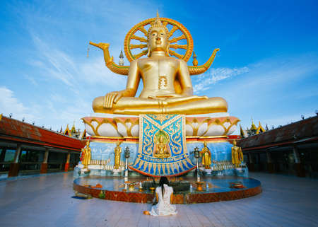 big buddha: Wat phra yai, the big buddha temple at Koh Samui, Thailand