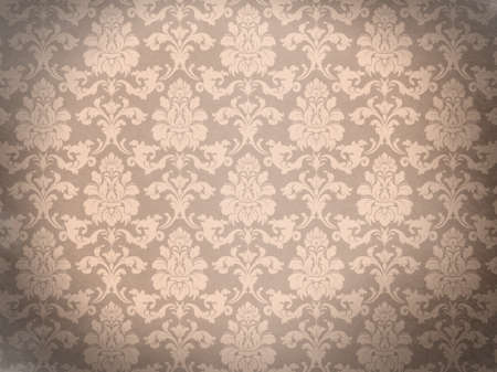 Damask background  Old wall  Glamour and fashion  Empty space for your design  Stock Photo - 23295303