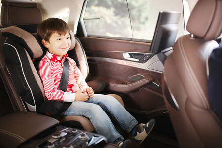 seat: Luxury baby car seat for safety with happy kid