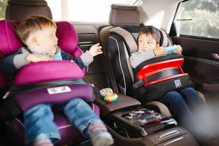 Luxury baby car seat for safety with happy kids photo