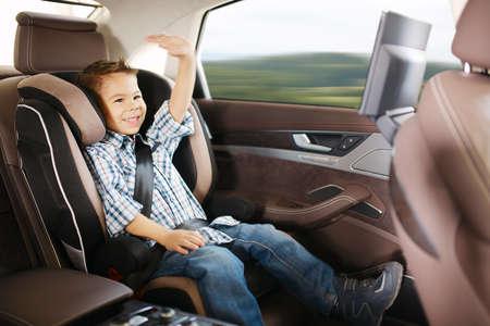asiento coche: Asiento de coche de beb� de lujo en la seguridad de ni�o feliz