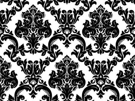 black damask:  Seamless damask pattern Illustration