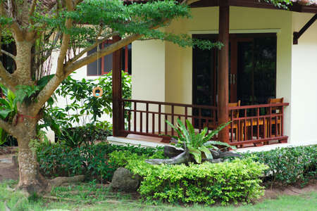 Villa, gardening, landscaping, park decoration and design
