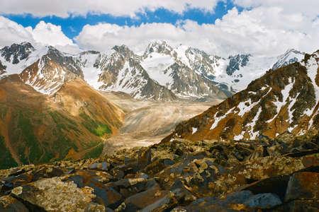 tien shan: Beautiful Tien shan peaks and mountains near Almaty. Dramatic overcast sky. Beauty world.