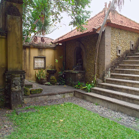 Balinese Backyard Designs balinese backyard, gardening design stock photo, picture and royalty
