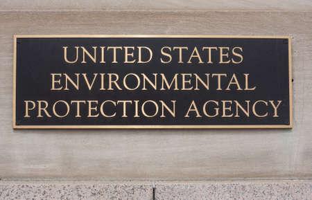 proteccion: Agencia de Protecci�n Ambiental de los Estados Unidos se�al en el edificio Clinton