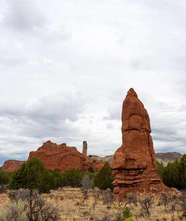 Deze sedimentaire pijp in Kodachrome Basin State Park in Utah lijkt op een Azteekse idool
