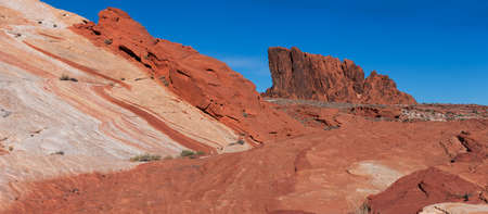 nevada: Panorama near the Fire Wave in Valley of Fire State Park, Nevada
