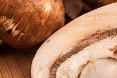 Macro Sliced Portabello Mushroom Stock fotó