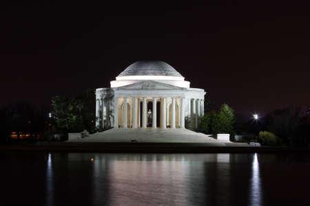 jefferson: The Jefferson Memorial at Night in Washington D.C.