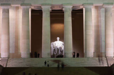The Lincoln Memorial at Night on the National Mall in Washington DC