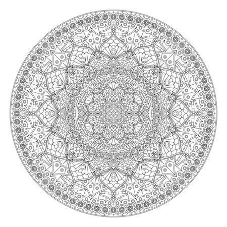 Decorative mandala pattern. Anti-stress drawing.