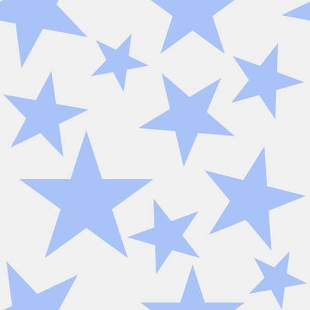 Blue stars on gray background. Vector seamless drawing.