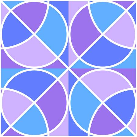 Seamless geometric ornament with circles. Vector drawing. Illustration