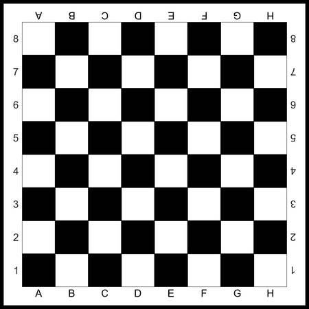 Tablero de ajedrez. Diseño vectorial. Ilustración de vector