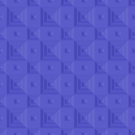 Relief pattern with purple stepped pyramids. Vector design. Ilustrace