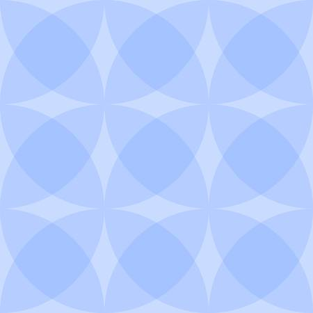 Abstract seamless pattern of intersecting translucent circles. Vector drawing. Иллюстрация