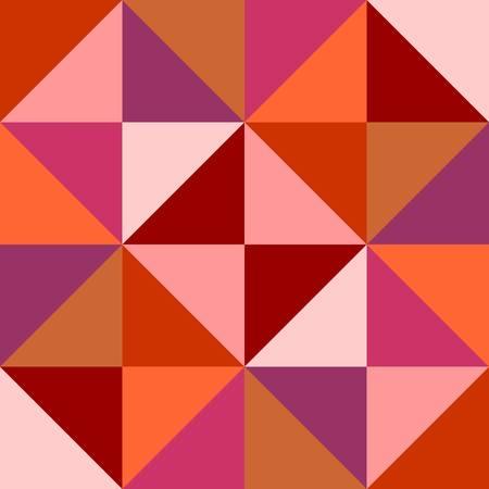 Geometric seamless pattern of multicolored triangles. Vector design.