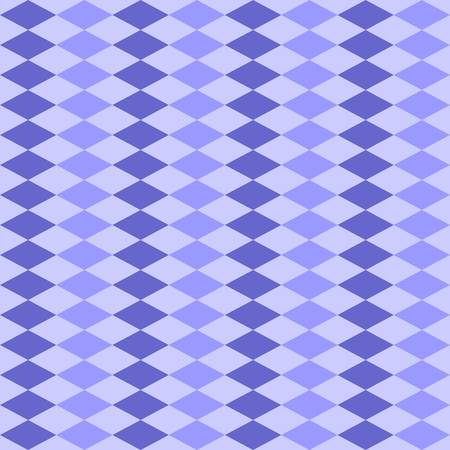 Pattern with rhombuses of different shades of blue. Seamless vector design.