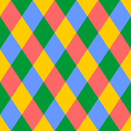 Seamless pattern with rhombuses of different colors. Vector design.