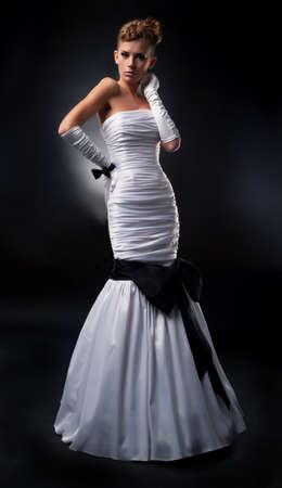 angelical: Angelical bride blonde in bridal dress