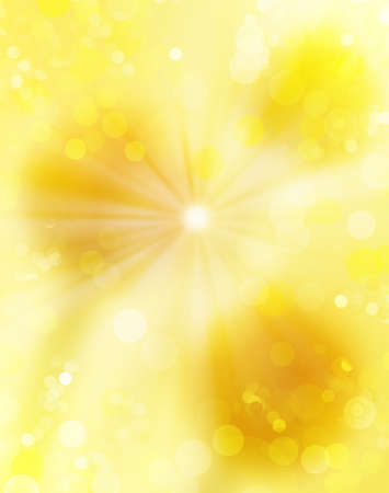 Gold blinking background. Holiday abstract light texture photo